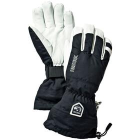 Hestra Army Leather Heli Ski Handsker, sort/hvid